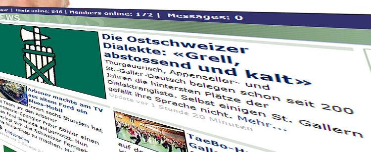 20 Minuten berichtet über Ostschweizer Dialekte