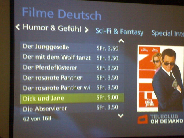 Video on demand: Hunderte Filme aus der Onlinevideothek