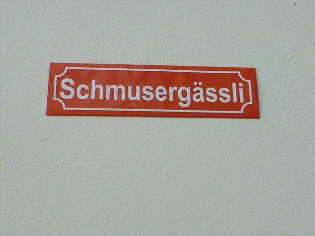 Wie romantisch Strassenbezeichnungen sein können...