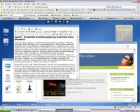 So präsentiert sich das Betriebssystem eyeOS im Browser