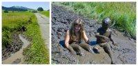 Ein unvergessliches Erlebnis für Kinder: Ein Bad im Naturmoor