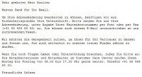 Per Mail/Formular nicht akzeptiert -> meine Adressänderung...