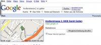 Bei Google eine Adresse eingeben und schon wird ein Kartenausschnitt angezeigt.