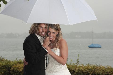 Judith und Mario hielten dem Regen und der beissenden Bise stand...