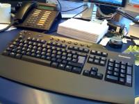 Eine simple Tastatur mit althergebrachtem Layout... heutzutage gar nicht mehr leicht aufzutreiben...