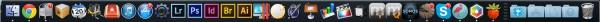 Die Dock-Leiste von Mac OS X.